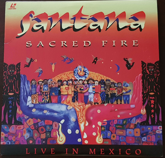 Laser Disc Santana - Sacred Fire ~ Live In Mexico