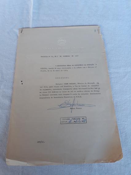 Carta Patente Ministério Educação Edson Franco 1967 36