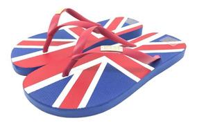 Chinelo De Borracha Santa Lolla Bandeira Do Reino Unido 7003