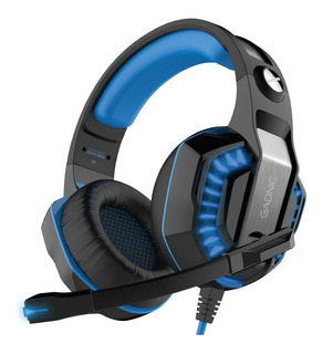 Auriculares gamer Gadnic A-37 Pro black y light blue