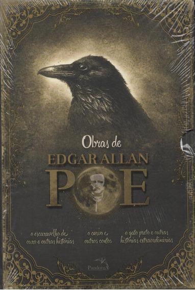 Box Obras De Edgar Allan Poe - Livro - 3 Volumes - O Corvo