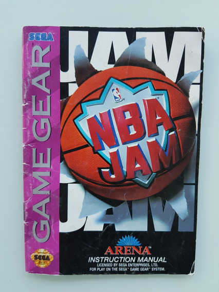 Nba Jam Manual Game Gear - Frete Gratis