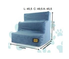 Escada Suede 3 Degraus Azul Claro
