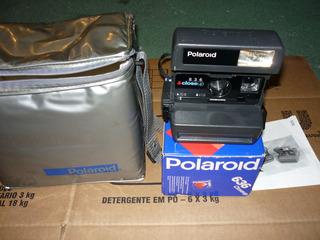 Maquina Fotografica Polaroid Antiga, Na Caixa, Case, Manual
