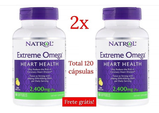 2x Natrol Omega-3 Limao-- 2400 Mg - 60 Softgels