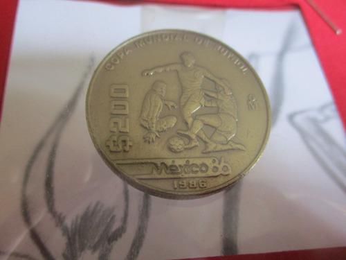 Moneda De $200 Mexico Mundial De Futbol De 1986