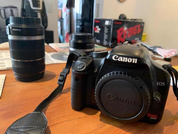 Camera Canon Eos Rebel Xsi Completa Perfeito Estado