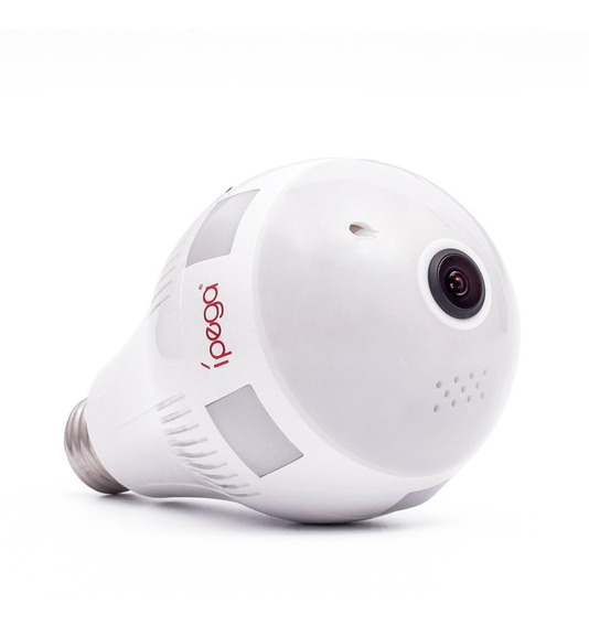 Camera Kp 153 Lâmpada Led Com Câmera Panorâmica 360º