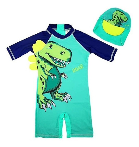 Traje De Baño Niños 2 Pz Dinosaurio * Envio Gratis *