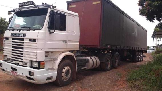 Scania 113 6x2 Carreta Bau Saider Guerra 28 Palletes