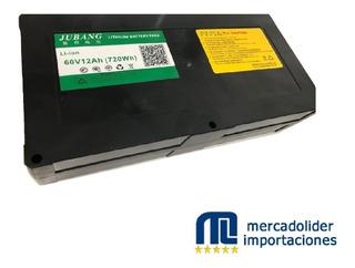 Batería + Cargador Moto Eléctrica 60v 12ah Litium Mli Oferta