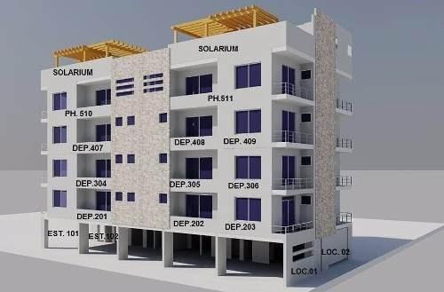 Departamento 2 Habitaciones En Playa Del Carmen P1845