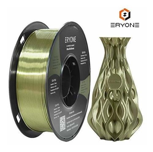 Filamento De Impresora 3d Eryone Ultra Seda Bronce Pla 1.75