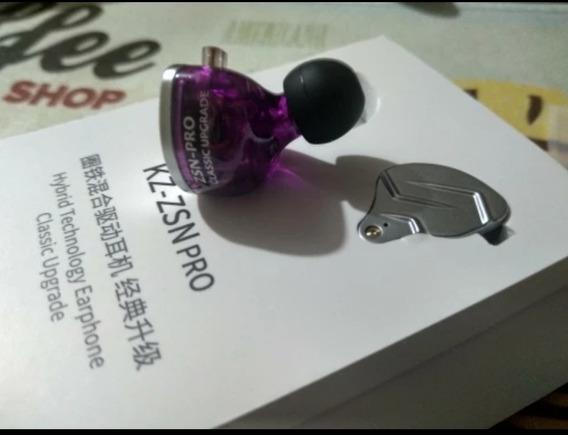 Fone Kz Zsn Pro C/ Mc + Case De Resina