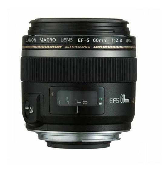 Lente Canon Efs 60mm F2.8 Macro Usm Lacrada Pronta Entrega #
