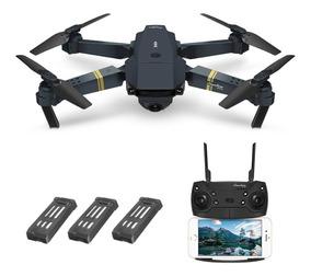 Drone Eachine E58 Fpv Com Câmera Kit Com 3 Baterias