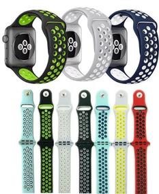 Pulseira Silicone Furo Nike Para Apple Watch Varia Cores
