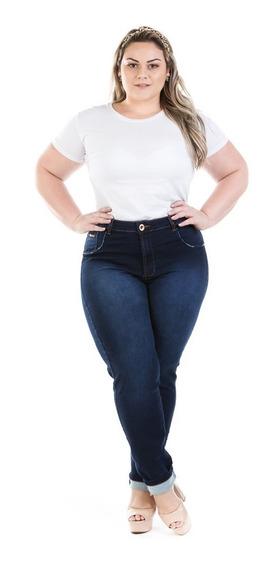 Calça Feminina Jeans Cintura Alta Legging Plus Size Crj358