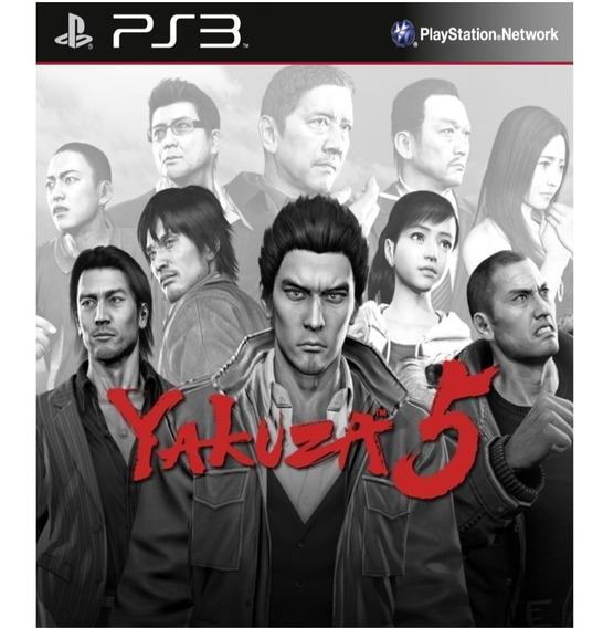Yakuza 5 - Psn Ps3 Play 3 Pronta Entrega