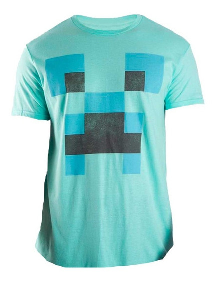 Playera Minecraft Cara Creeper Talla M Adulto Nuevo