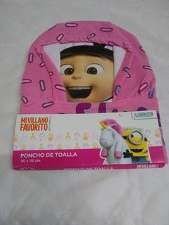 Poncho Toalla Pepa Pig Minions Nena