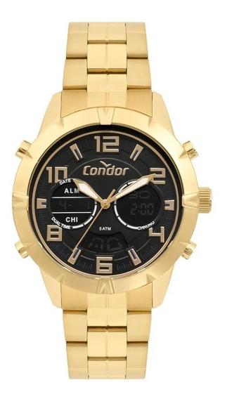 Relógio Condor Anadigi Masculino Dourado Co203amsr/4p