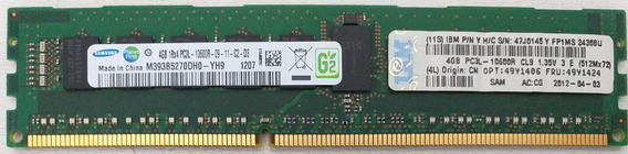 Memória Samsung 4gb Pc3l-10600r Ddr3-1333 Registered Ecc 393
