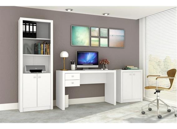 Conjunto Home Office Cb01 Com Escrivaninha, Armário Alto E A