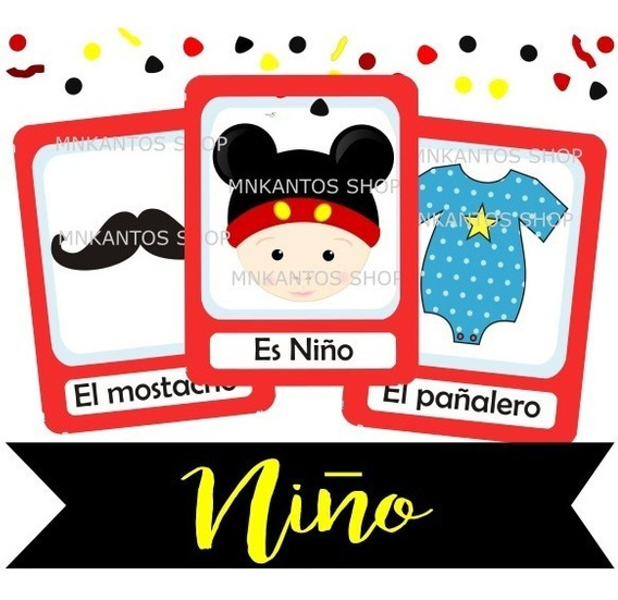 Adornos Para Baby Shower De Nino De Mickey Mouse