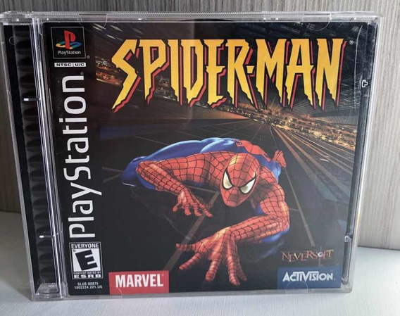 Spider Man Ps1 Original Black Label Completo Homem Aranha