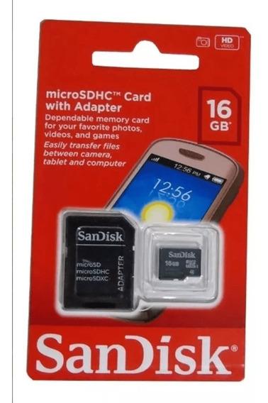 Cartão Micro Sd Sandisk 16gb Oferta