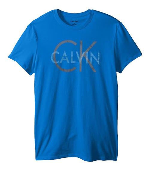 Playera Calvin Klein Azul Caballero