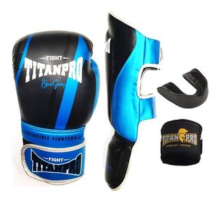 Kit Muay Thai Completo Titan Pro 100% Importado Frete Grátis