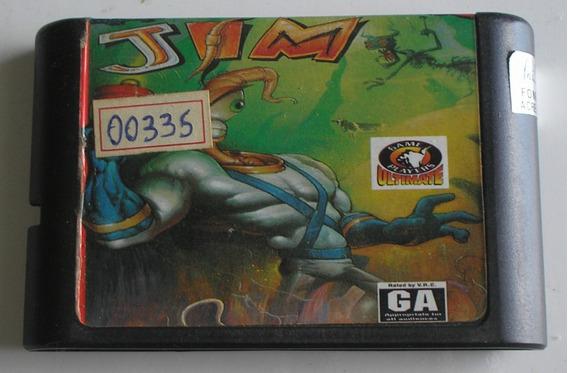Earthworm Jim Mega Drive Paralela Usada De Época Funcionando