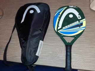 Raquete De Beach Tênis Head Carbono, Tratada, Impecável!!!!!