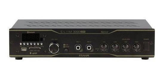 Amplificador Receiver Frahm Slim 3000app Optical 200w Rms Bivolt