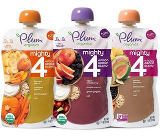 Snack Para Bebé Plum Organics Mighty4 -4 Oz 18 Piezas Yogurt