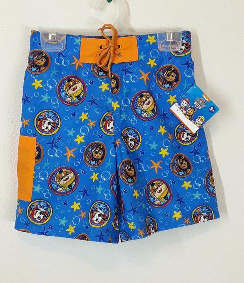 Paquete De 3 Shorts De Baño Para Niño Paw Patrol Talla 6