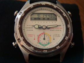 Muy Raro Reloj Casio Aw-600 Chrono 1/100 De Colección.