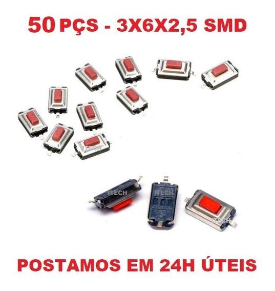50 Pçs - Botão Táctil Smd Placa Telecomando Gm Vw Peugeot...