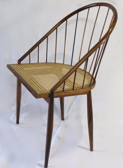 Tenreiro - Cadeira Curva - Jacarandá E Palhinha