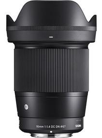 Lente Sigma 16mm F/1.4 Dc Dn Contemporary ( P/ Sony E )
