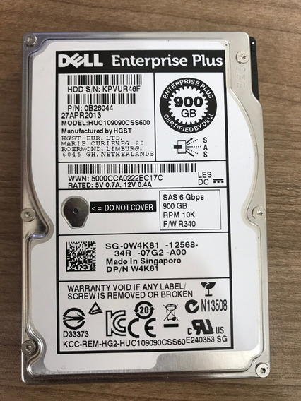 Hd Dell W4k81 Equallogic 900gb 2.5 10k Sas