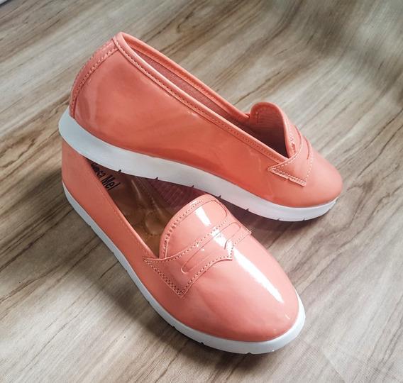 Tênis Slip On Sapatos Femininos Mocassim Verniz Promoção