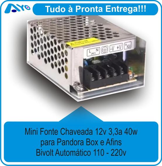 Mini Fonte Chaveada Para Pandora 12v 3,3a 40w
