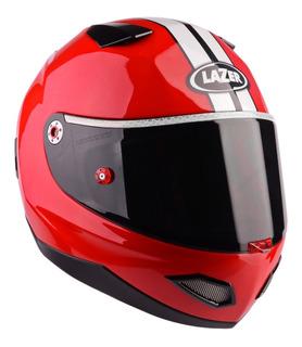 Casco Integral Lazer Kite Mustang Pure Glass Rojo