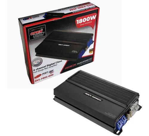 Imagen 1 de 5 de Amplificador Rock Series Rks-p800.4dm 1800w Max 4c Clase Ab