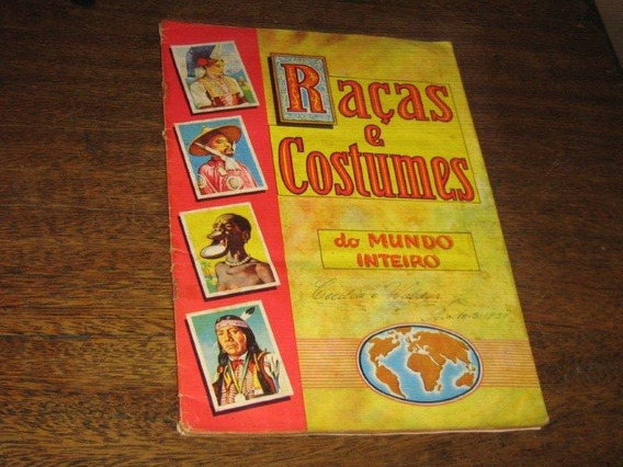 Album De Figurinhas Raças E Costumes Do Mundo Ed Vecchi 1958
