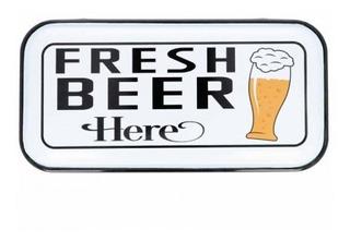 Cuadro Free Home Fresh Beer Here 20,3 X 40,2 X 1,5 Cm Tk684