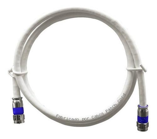 Imagem 1 de 5 de 2 Metros De Cabo Coaxial Antena Digital + Conector 90 Graus